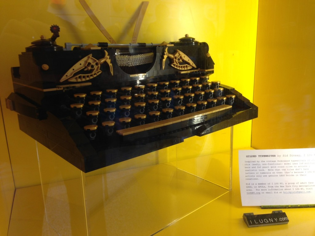 Brickplate's typewriter, made entirely of Lego pieces, is a favorite of the staff and customers at the flagship store in Rockefeller Center -- and a favorite on Instagram as well.