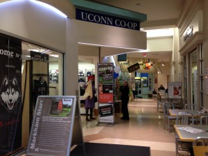 UConn Co-op decked out for Halloween.