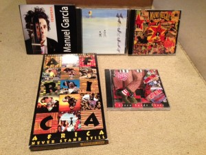 "Some of the CDs featured on the ""Mostly Folk World Tour,"" November 3, 2103."