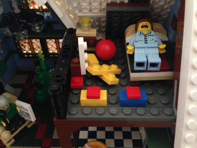 Emmet wakes up not in Bricksburg, but in Winter Village Cottage. Could this be his backstory?