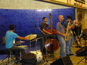 Musicians perform in a Metro station in Lisbon, part of a month-long festival in October 2012.