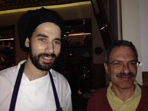 Richard (right) with the chef of Casa de Pasto.
