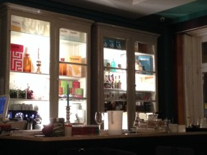 The bar at Pharmacia is a standout feature.