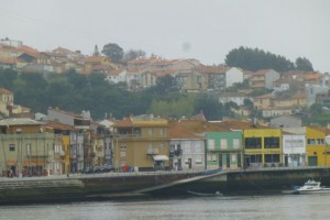 View of Vila Nova de Gaia, across the river from Porto.