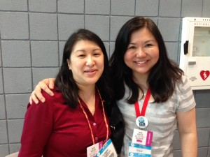 #WNDB co-founders Ilene Wong, aka I. W. Gregorio (left) and Ellen Oh.