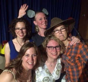 With my fellow grad assistants at the summer 2014 VCFA residency.