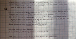 My second page of notes.