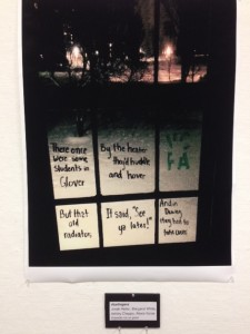 "At the ""Poetry Off the Page"" exhibit, VCFA students reflect on the winter residency of the cold."