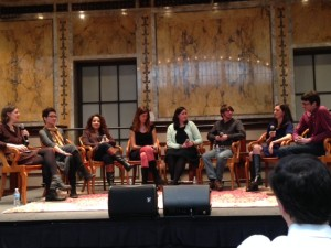 The love and identity panel that featured WNDB'er Cindy L. Rodriguez (3rd from left). I did get the back of David Levithan's head into this one.