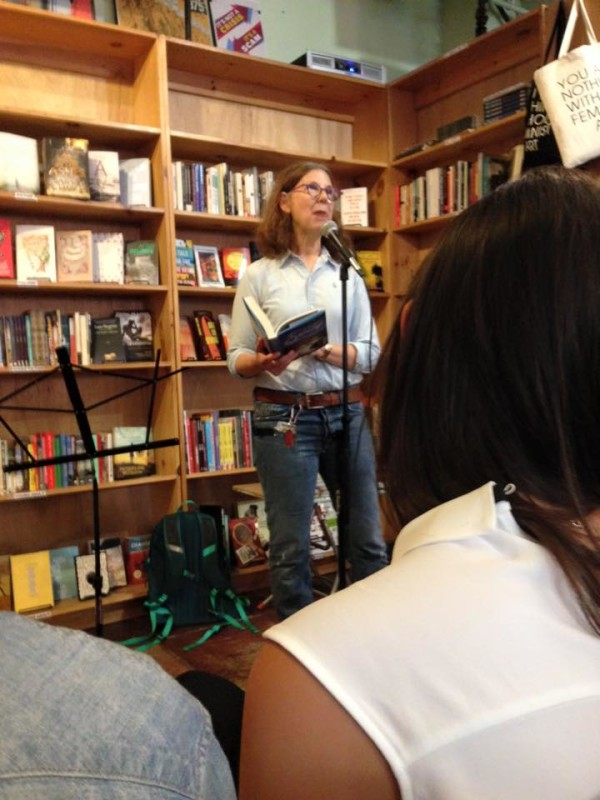 Reading from the book, where Tina meets Frankie.