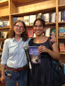Celebrating Surviving Santiago's launch at Bluestockings with author and activist  Zetta Elliott.