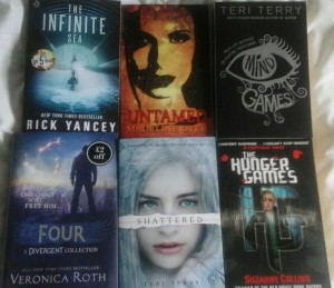 A selection of Madeline's favorite dystopian novels.