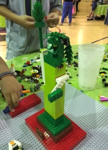 A Caribbean-inspired Statue of Liberty, built by the PowerKids campers.
