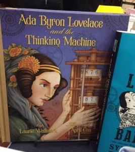 My fellow VCFA'er Laurie Wallmark's acclaimed new picture book at Bluestockings. Laurie is one of the people giving advice for PiBoIdMo.