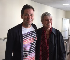 Brazilian author/illustrator Roger Mello with author and Dorothy Briley lecturer Susan Cooper.