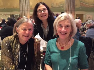 I pose with fellow breakout session panelists Nancy Bo Flood (left) and Terry Farish.