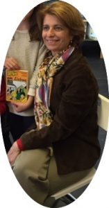 "Isabel Alçada, with one of the ""Uma Aventura em..."" books I read years ago."