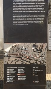 Map for a Mouraria walking tour.
