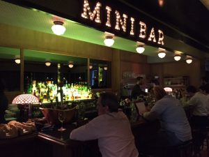 The bar at José Avillez's newest Lisbon restaurant, Mini Bar.