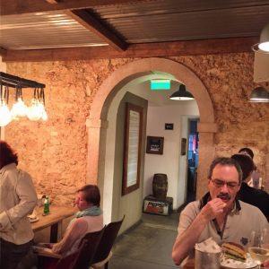 Richard checking out the fare at O Prego da Peixaria.
