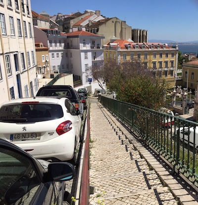 The Lisbon neighborhood of Mouraria has become popular with visitors. But do you want to drive in this?